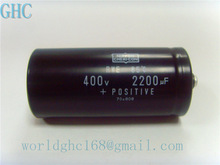 factory price 2200uF 400v aluminum electronic capacitor low esr high power with low esr