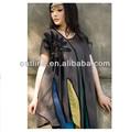 2014 venta caliente bordados étnicos blusas, las minorías étnicas blusa de algodón, blusas bordadas a mano para damas
