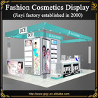Fashion customized cosmetic display furniture design with makeup cabinet and wooden shelf stand for mall kiosk or retail store