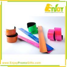 Customized Top Quality Logo Printed PVC Slap Band