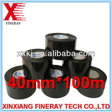 40mm*100m black hot stamping code ribbon used on industry plastic melting machines
