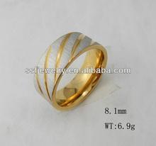 SSR0306 New Design stainless steel men's gold finger ring