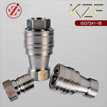 KZF SS 316 double shut-off hydraulic cylinder multiple plug socket