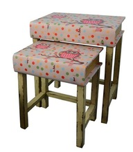S/2 Ottoman Footstool China Furniture
