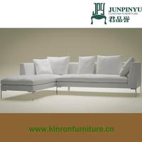 K-LS004 wholesale elegant modern L shape living room fabric corner sofas