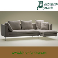 K-LS005 wholesale fashionable elegant modern living room grey fabric sofa