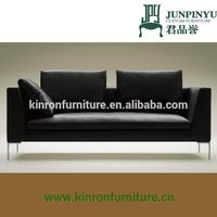 K-LS006 fashionable elegant living room furniture modern black fabric sofa