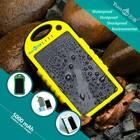 Waterproof Solar Power bank for iPhone 6 Mobile Phone Accessories 5000mah
