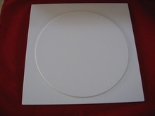 round milky white quartz glass piece for Induction cooker