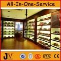 zapatos de madera escaparate de la exhibición de diseño para los hombres zapatos de decoración de la tienda