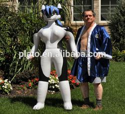 high quality giant inflatable husky girl