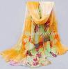 2014 fashion sublimation print Fashion scarves shawls wholesale silk scarves scarf