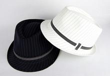 cotton man custom hats with black ribbon men black hat