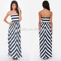 2014 nuevo vestido de diseño bonito en blanco y negro de impresión casual de vestir ropa de las mujeres