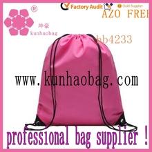 rose pink drawstring laundry bags