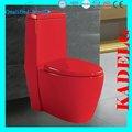 élégant de couleur rouge à haut rendement une toilette pièce