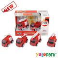 Die cast metal fricción camión de bomberos de potencia, metal juguetes de dibujos animados
