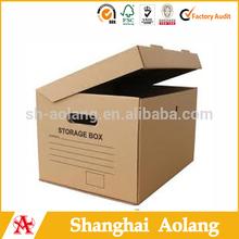 high quality brown kraft paper carton storage box
