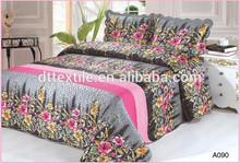 Flower design, bed spread. 100% polyester, hot seller