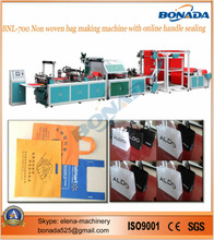 BND-XB700 Multi-functional non wove bag making machine with online handle attach