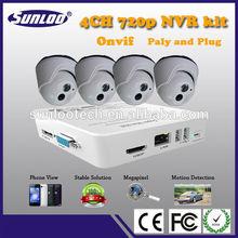 Most popular onvif h.264 p2p 4ch mini nvr combo wifi ip camera kits