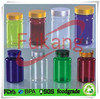 hot sale empty colored plastic jars, medicine/pills/drugs containers with foamer