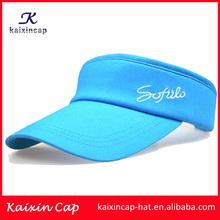 wholesale high quality sun visor cap/custom embroidery cotton sun visor cap/cheap fashion sun visor sports cap