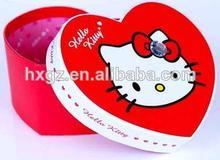 Full color heart shape gift paper packaging bags