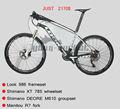 Frame da bicicleta de montanha 986 olhar de carbono mountain mtb quadro de bicicleta, cheio de fibra de carbono mtb frame3k com haste de carbono mtb frame