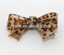 fashion leopard acrylic bow,claw clip hair