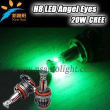 Car accessory kit Angel Eye H8 LED 20W C REE E87 E92,E93,E70,E71, E60 E61 E63 E64 high power led angel eyes