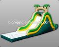 Popular más nuevo gigante tobogán inflable con piscina venta