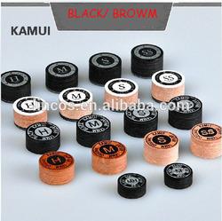 14mm original black /brown kamui snooker/billiard/pool tips/cue tips
