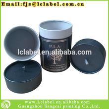 new design dark blue hot stamping gift paper round box round cardboard candle box wholesale