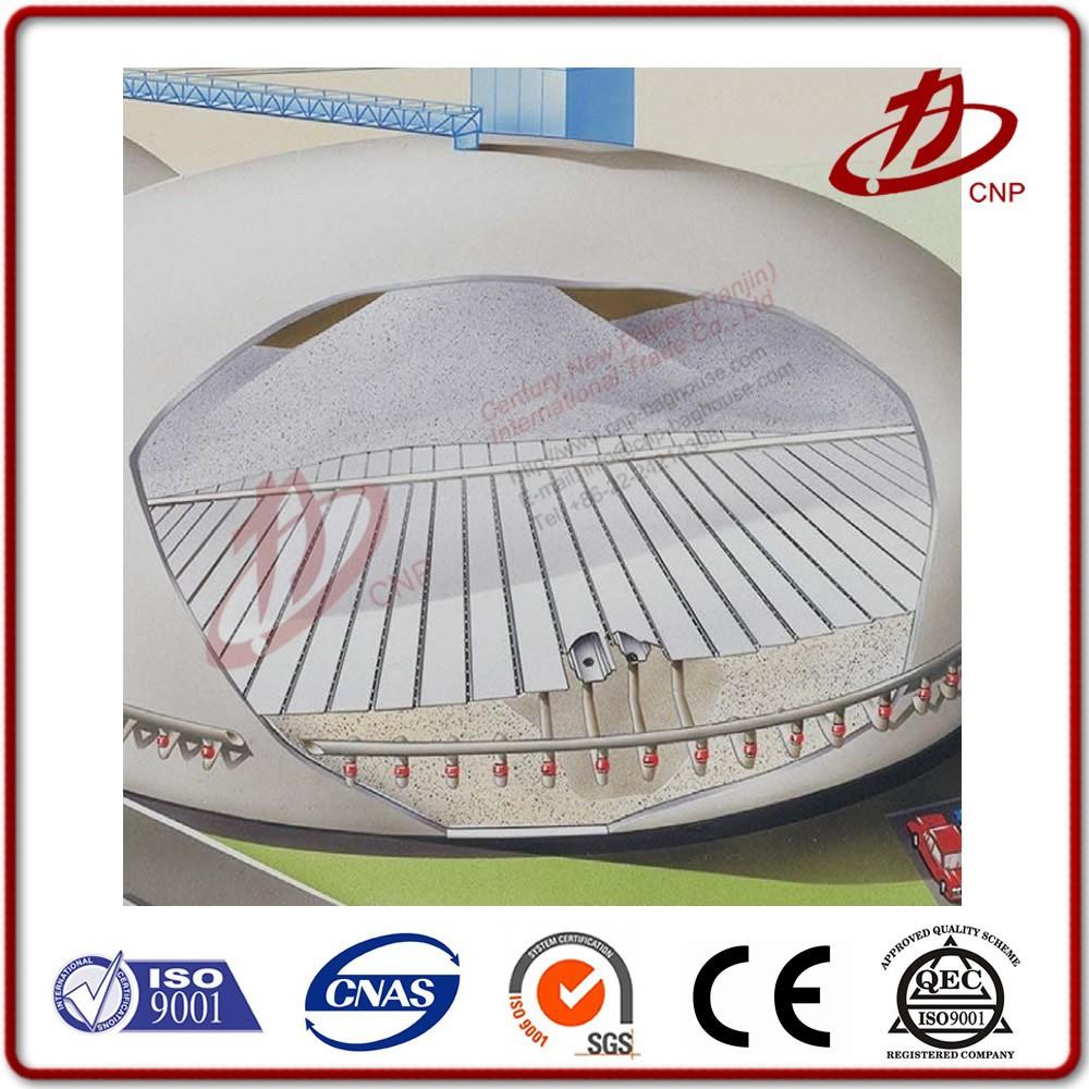 silo dome storage fluidised floor open cloth air slide