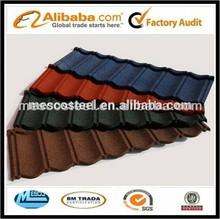 stone-coated metal roof tiles/decorative metal roof tile/glazed metallic tile
