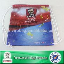 210D Polyester Shoe Bag Drawstring PE Gym Kit Kids School Drawstring Sack