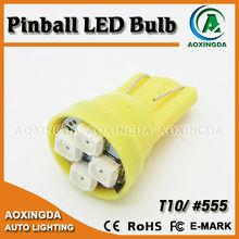 6.3V pinball led lights T10 194 w5w #555 bulbs non ghosting