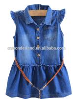 girls jeans light denim children's dress kids denim dress denim blouse
