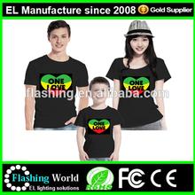 el t shirt /shenzhen equalizer el t shirt /white cotton EL t shirt super quality