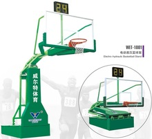 2015 adjustable Electro-hydraulic basketball stand with organic glass backboard made in china