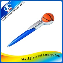 high quality ball pen with basketball for kids/ promotinal ball pen with basketball/ writing ball pen with basketball