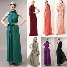 Ladies Women Ladies Elegant Fashion Sexy Off Shoulder Chiffon Maxi Long Dress 16636