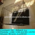 Jaula del animal doméstico, jaulas para perros plegable de metal perro cajones/jaulas embalaje