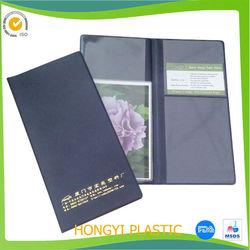 factory custom hard PVC book cover