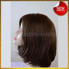 100% cheap human hair full lace jewish wig straight hair