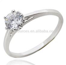 2014 18k plated wedding rings wholesale price/bright diamonds rings price with zircon stone c7m034