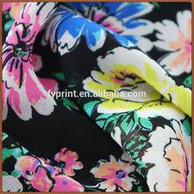 Factory Direct Custom Digital Printed Silk Chiffon / Georgette Fabric For Dress