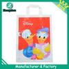 Custom cartoon printed shopping plastic bag handles factory (zz176)