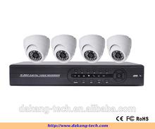 Color COMS 700TVL H.264 4CH CCTV DVR Kit ,4 IR Waterproof Cameras